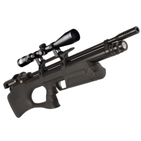 KRAL BREAKER BULLPUP PCP PRE-CHARGED AIR RIFLE .177 calibre 14 shot Black Synthetic