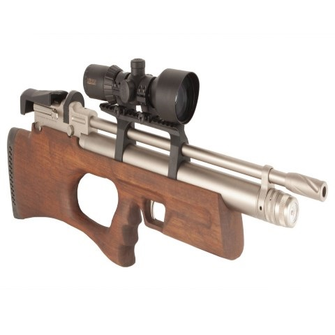KRAL BREAKER BULLPUP PCP PRE-CHARGED AIR RIFLE .22 calibre 12 shot marine Turkish walnut thumbhole stock