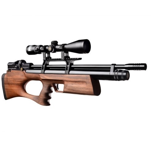 KRAL BREAKER BULLPUP PCP PRE-CHARGED AIR RIFLE .177 calibre 14 shot Turkish walnut thumbhole stock