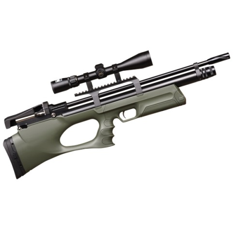 KRAL BREAKER BULLPUP PCP PRE-CHARGED AIR RIFLE .22 calibre 12 shot Green Synthetic