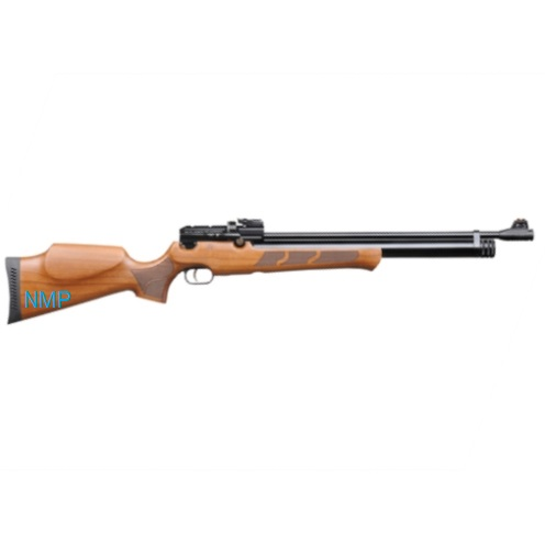 KRAL PUNCHER MAXI Black PCP PRE-CHARGED AIR RIFLE .22 calibre 12 shot WALNUT STOCK