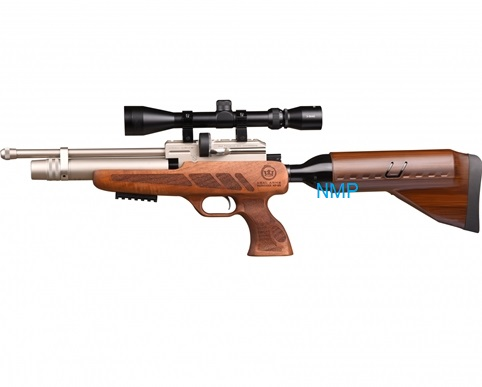Kral Puncher NP-02 Marine PCP PRE-CHARGED AIR RIFLE .22 calibre 12 shot and free hard case WALNUT STOCK