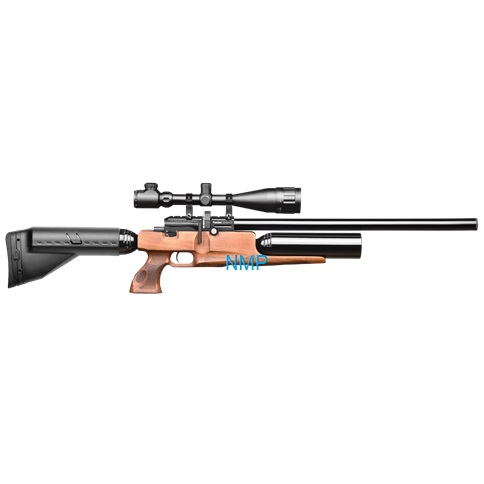 Kral Puncher Big Max PCP PRE-CHARGED AIR RIFLE .22 calibre 12 shot and free hard case WALNUT STOCK