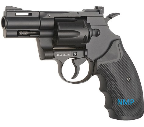 KWC Colt 357 Revolver 2.5 inch Barrel .177 BB 12g co2 Air Pistol Black Finish 4.5mm steel bb ( 6 shot bb revolver )