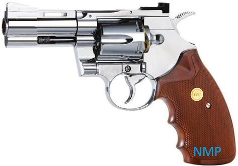 KWC Colt 357 Revolver 2.5 inch Barrel .177 BB 12g co2 Air Pistol Chrome Finish 4.5mm steel bb ( 6 shot bb revolver )
