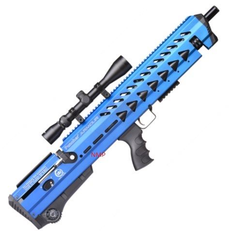 KRAL BREAKER ARMOUR PCP PRE-CHARGED AIR RIFLE .22 calibre OCEAN BLUE