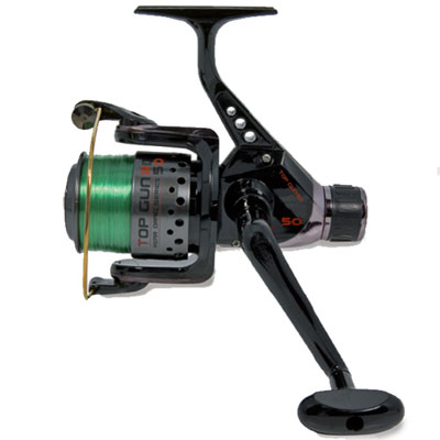 LINEAEFFE SEA REEL TOP GUN IN BLUE COLOUR RD50 1BB WITH GREEN MONO LINE
