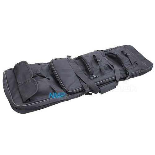 39 inch x 12 inch Wargame Combat Tactical Airsoft Rifle 2 Section Case Gun Bag 100cm Black