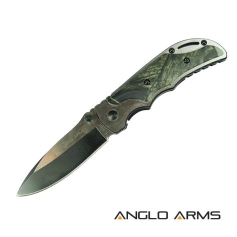 7 inch Lock Knive With Camo Onlay (112)