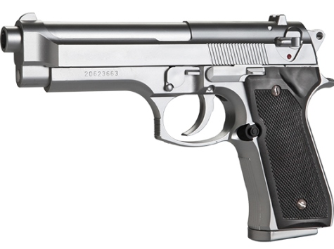 6MM AIRSOFT Pistol KWC M92 Airsoft Gas Blow Back Pistol (ABS Version, Silver) 6mm BB