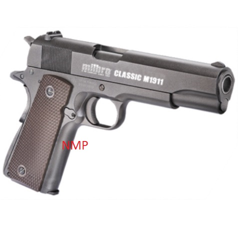 Milbro CLASSIC M1911 ALL METAL 12g co2 Air Pistol .177 calibre PELLET 12 SHOT