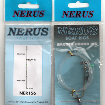 NERUS BOAT SEA RIGS 1 HOOK (SIZE 4/0 SMOOTH HOUND ) NER156
