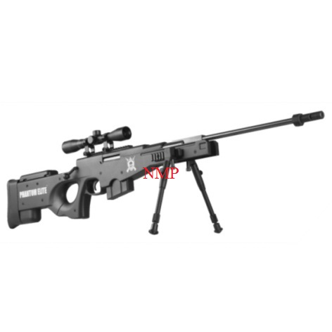 NOVA VISTA BLACK SNIPER Phantom Elite GAS RAM break action rifle .22 calibre pellet and 4 x 32 scope