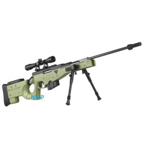 NOVA VISTA OLIVE DRAB SNIPER Phantom Elite GAS RAM break action rifle .22 calibre pellet and 4 x 32 scope
