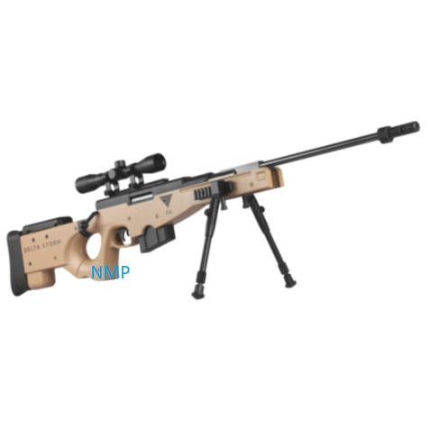 NOVA VISTA SAND DESERT SNIPER Phantom Elite GAS RAM break action rifle .22 calibre pellet and 4 x 32 scope