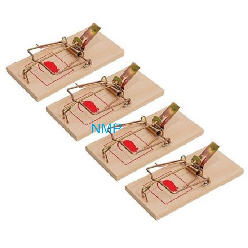 NTI Mouse traps 4 Pack Wood