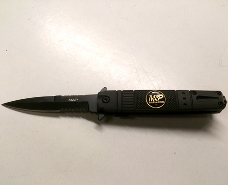 7 inch Lock Knive Action Tactical Rescue Knives P-528-MP-B ( Military Police ) MP (Black)