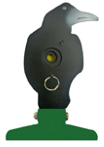 SMK Training Free Standing Folding Silhouette Knockdown and Pull Reset Crow Target for Target Shooting with 177 - 22 Air Rifles & Pellet Guns