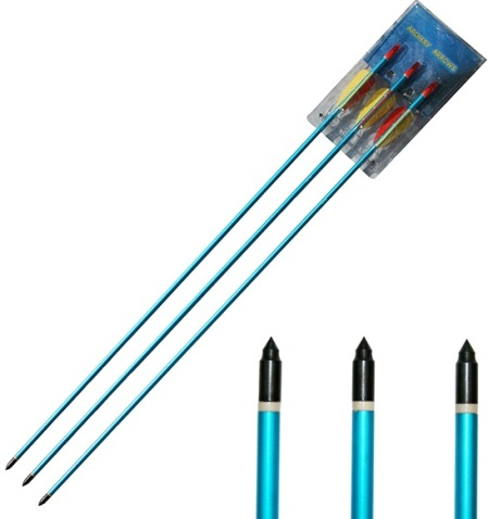 "Archery Pack Of 3, 30"" Aluminium Bow Arrows (AAL30-C)"