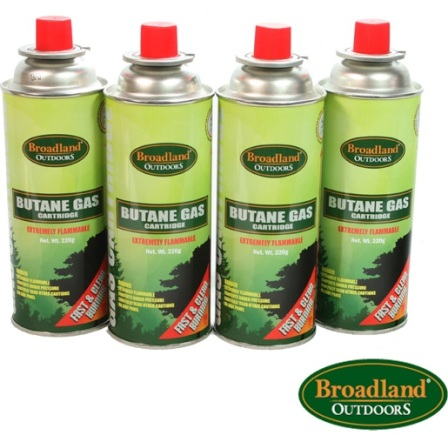 Butane Gas Pack of 4 x 220g