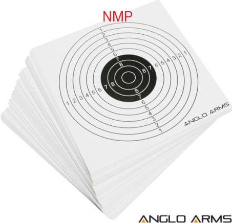Anglo Arms 10m (33ft) AIR GUN TARGETS Pack of 50 Card Targets ( 14cm )