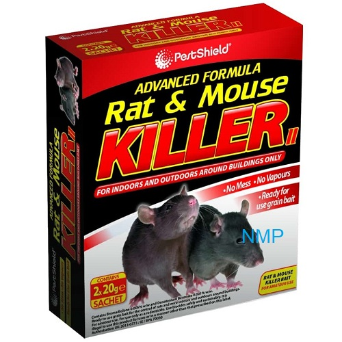 Pestshield Advanced Formula Rat & Mouse Killer (2 x 20g Refill Sachets)
