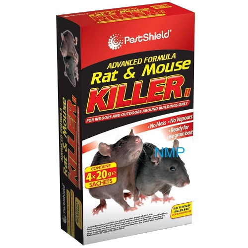 Pestshield Advanced Formula Rat & Mouse Killer (4 x 20g Refill Sachets)