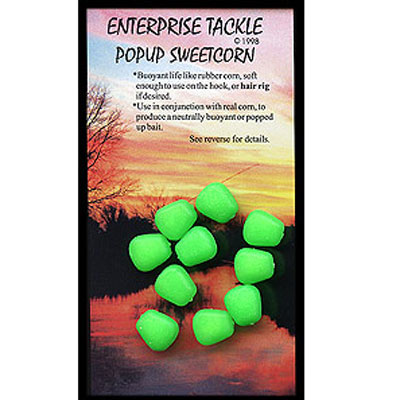 Enterprise Tackle (ARTIFICIAL / IMITATION BAITS:)  Sweetcorn Green Pop Up