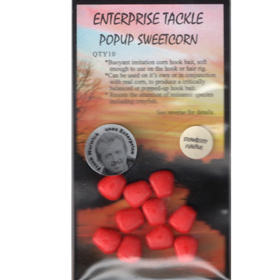 Enterprise Tackle (ARTIFICIAL / IMITATION BAITS:)  Sweetcorn Red Strawberry Pop Up