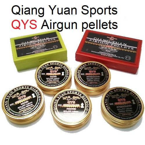 Qiang Yuan Sports, QYS FT STREAMLINED Domed Airgun pellets .177 calibre 4.49mm 8.48 grains tub of 500