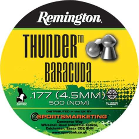 Remington .177 Calibre Air Gun Pellets