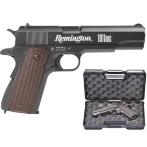 Remington 1911 RAC 12g CO2 powered 4.5mm BB Pistol Semi Auto Blowback ( 18 Shot 177 Steel BB ) kit case
