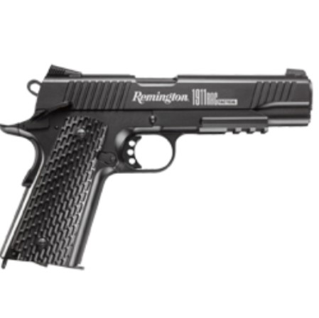 Remington 1911 RAC TACTICL BLACK 12g CO2 powered 4.5mm BB Pistol Semi Auto Blowback ( 18 Shot 177 Steel BB )