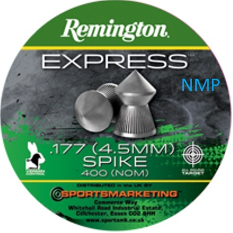 Remington Express Spike Pointed Air Gun Pellets .177 calibre tin of 400 8.5gr x 5 tins