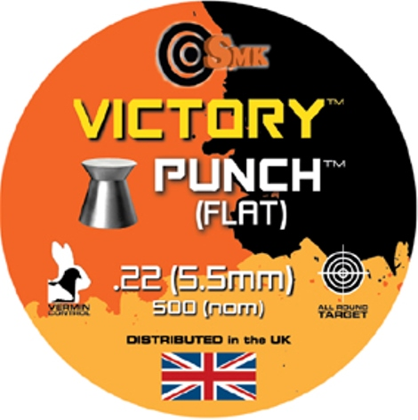 SMK VICTORY PUNCH (FLAT) .22 CALIBRE 12.5 gr x 10 tins