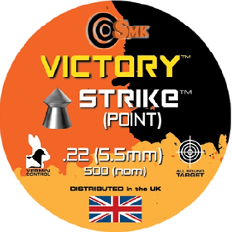 SMK VICTORY STRIKE (POINTED) .22 CALIBRE 13.9 gr x 10 tins