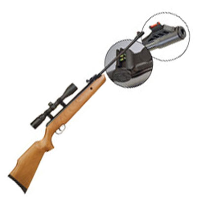 SMK SUPER GRADE XS19 18 Fibre Optic Sight BREAK ACTION Hunter Air Rifle Available in .22 calibre air gun pellet