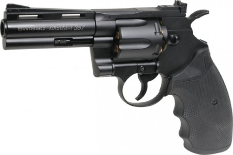 Swiss Arms 357 PISTOL 4 inch Barrel .177 BB 12g co2 Air Pistol ( 6 shot bb revolver )