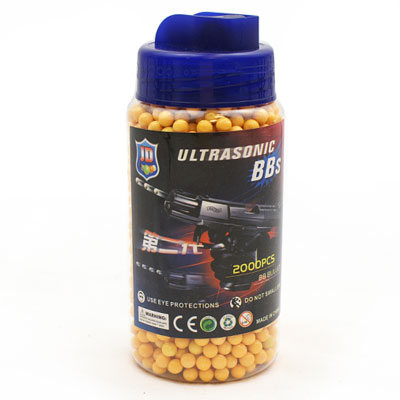 0.12g ORANGE 6mm Airsoft BB's Nylon Pellets tub of 2,000