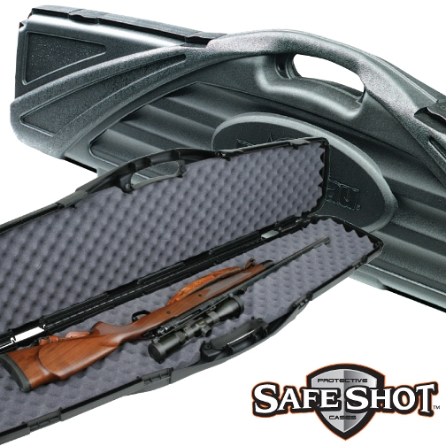 Flambeau Safe Shot Oversized Single Hard Gun Rifle Case Black ( 6489NZ ) 53.5 inch x 13.5 inch x 4.5 inch