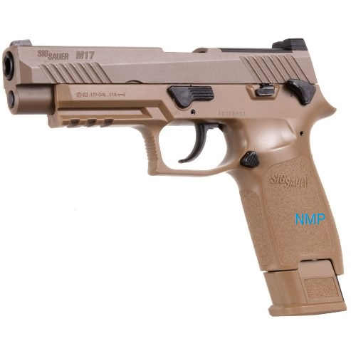 Sig Sauer M17 Coyote Tan Finish, co2 pistol .177 calibre Pellet (4.5mm) Rifled Barrel 20 shot magazine