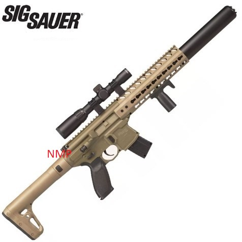 Sig Sauer MCX 30 Shot 88g CO2 Air Rifle FDE with Sig 1 4 x 24 Telescopic Sight .177 calibre Pellet (sold as spares or repairs, collected from store and paid in cash) Ex Demo