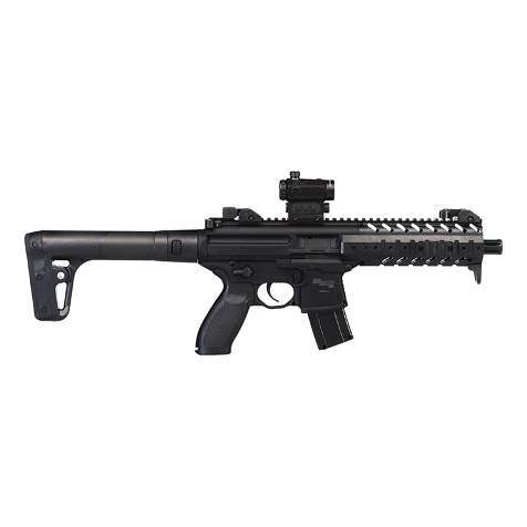 Sig Sauer MPX Air Rifle Black .177 Pellet with SIG 20R Red Dot