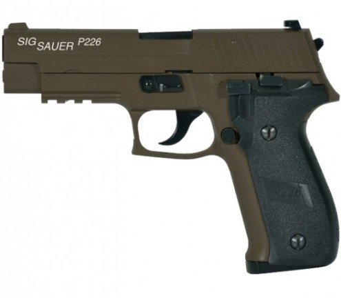 6MM AIRSOFT Pistol Sig Sauer P226 (KJW) FULL METAL blowback ( Gas powered ) 6mm BB ( SP280520 Military green )