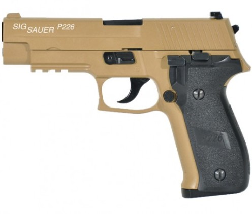 6MM AIRSOFT Pistol Sig Sauer P226 (KJW) FULL METAL blowback ( Gas powered ) 6mm BB ( SP280519 Tan )