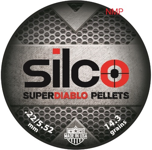 SILCO SUPER DIABLO domed Air Gun Pellets 5.52mm 14.3 Grains Tin of 500 (use to be brocock brand) x 10 tins