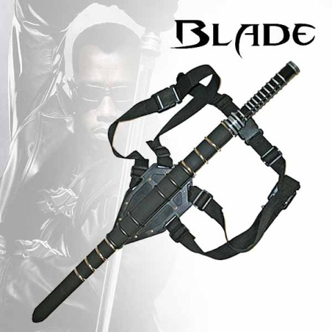 Single Straight 'Blade' Sword With Back Straps (KS-BS014177)