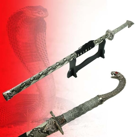 Single Straight 'Cobra' Sword With Stand ( KS-1PC-COBRA T310211)