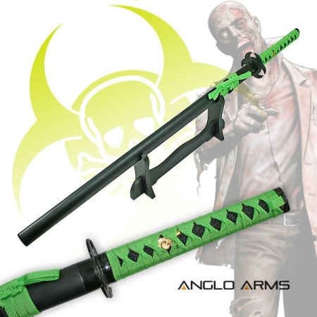Single Straight Zombie Sword With Stand (115)