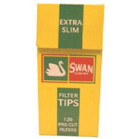 Swan cigarette filter tips 5mm Extra Ultra Slim  5 boxes